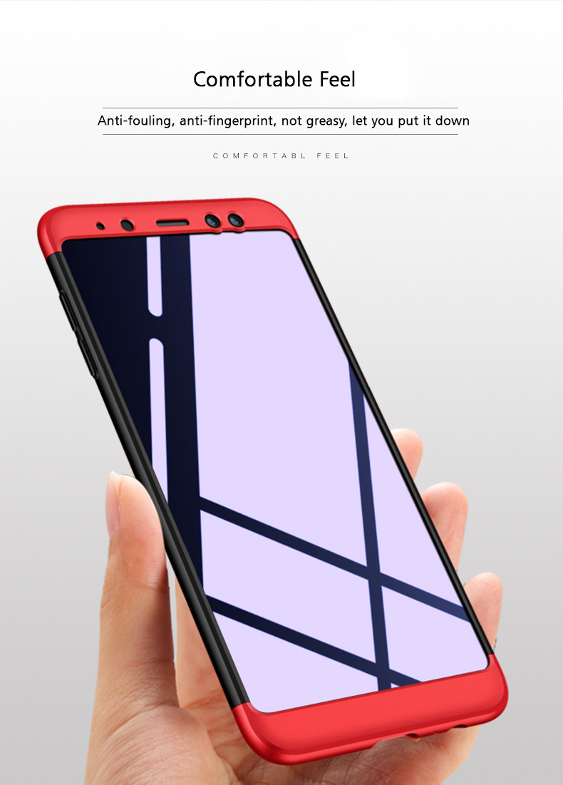 low priced 75414 cd723 FCK ® Samsung Galaxy A8 Plus 5-in-1 360 Series PC Case Dual-Colour Finish  Ultra-thin Slim Front Case + Back Cover