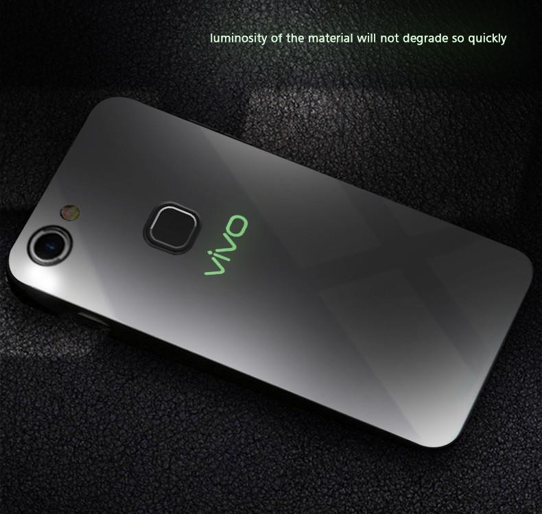 save off f1a78 2a17f VAKU ® Vivo V7 Plus Radium Glow Light Illuminated VIVO Logo 3D Designer  Case Back Cover