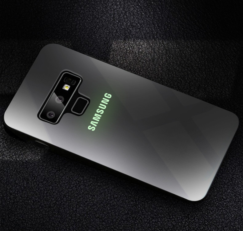 premium selection c151f fb97d VAKU ® Samsung Galaxy Note 9 Radium GLOW Light Illuminated SAMSUNG Logo 3D  Designer Case Back Cover