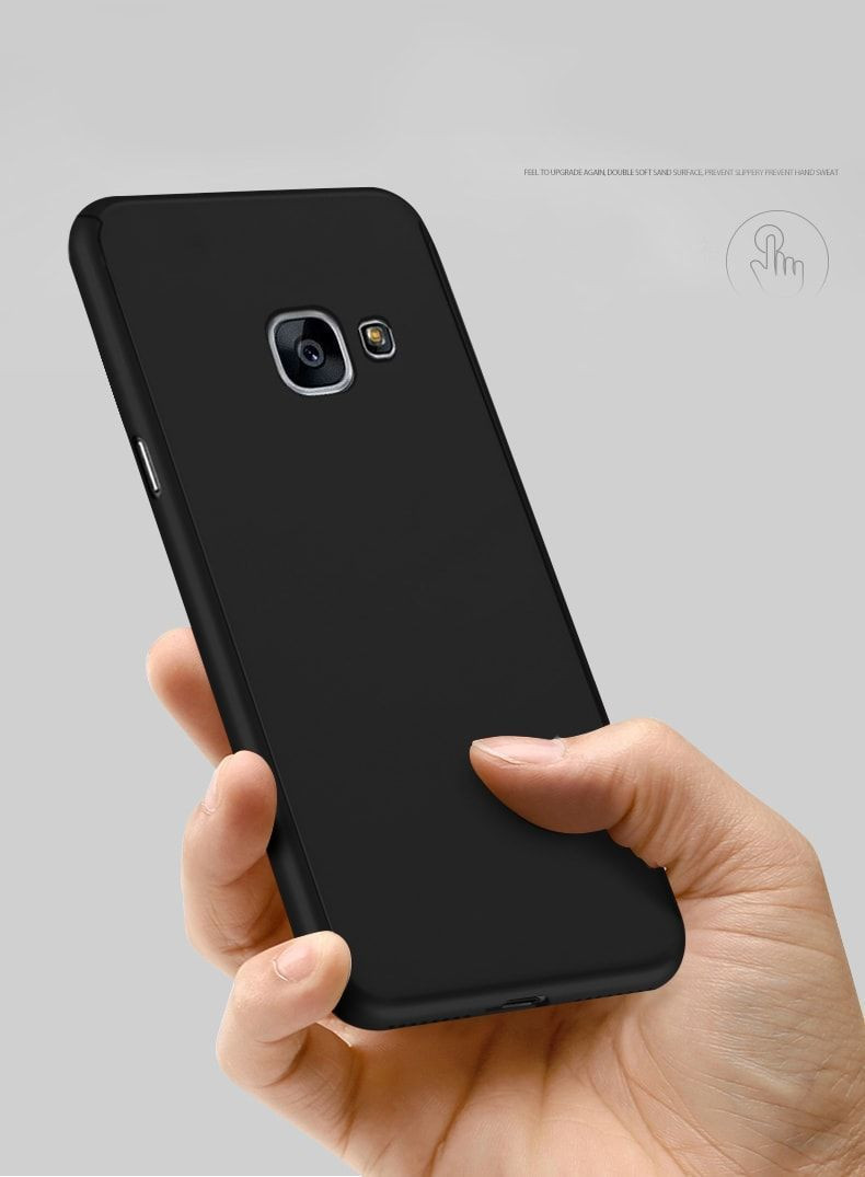 Vaku Samsung Galaxy J7 Prime 360 Full Protection Metallic Finish 3 In 1 Ultra Thin Slim Front Case Tempered Back Cover