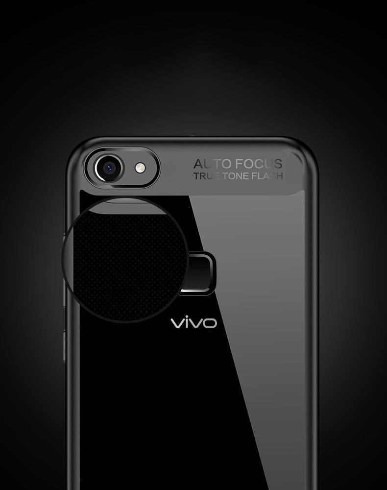 Vaku ® VIVO V7 Plus Kowloon Series Top Quality Soft Silicone 4 Frames +  Ultra-Thin Transparent Cover