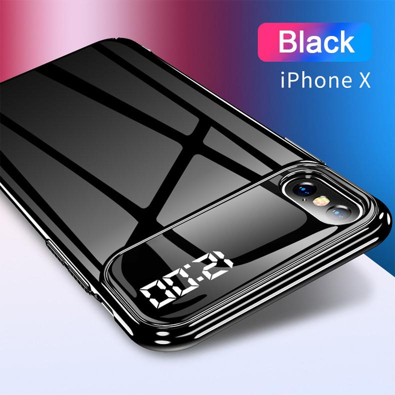 promo code 2e619 c261e Vaku ® Apple iPhone X / XS LED Touch inbuilt Digital Clock Polarized Glass  Glossy Edition Back Cover