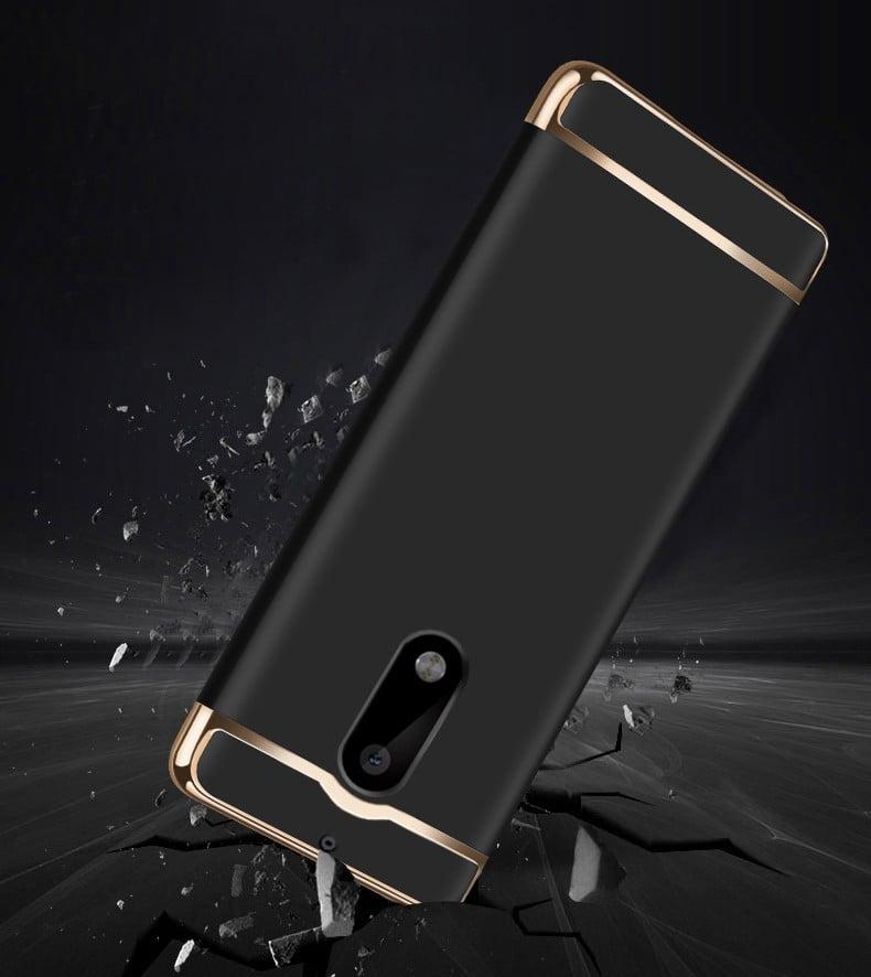 f45a526638 Vaku ® Nokia 6 Ling Series Ultra-thin Metal Electroplating Splicing PC Back  Cover