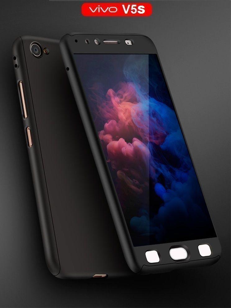 timeless design 41d92 c95df Vaku ® Vivo V5s 360 Full Protection Metallic Finish 3-in-1 Ultra-thin Slim  Front Case + Tempered + Back Cover