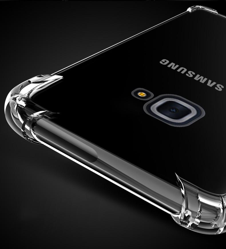 timeless design 1d885 e92ce Vaku ® Samsung Galaxy J7 Max PureView Series Anti-Drop 4-Corner 360°  Protection Full Transparent TPU Back Cover Transparent