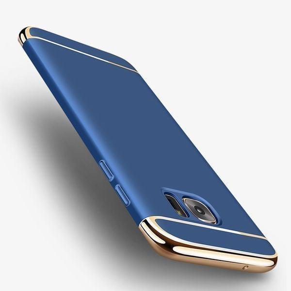 4bec9a97eec Vaku ® Samsung Galaxy S6 Edge Ling Series Ultra-thin Metal Electroplating  Splicing PC Back Cover