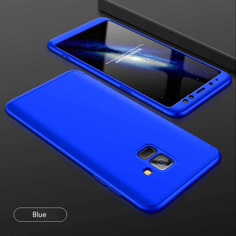 low priced be98c d7ebf FCK ® Samsung Galaxy A8 Plus 5-in-1 360 Series PC Case Dual-Colour Finish  Ultra-thin Slim Front Case + Back Cover
