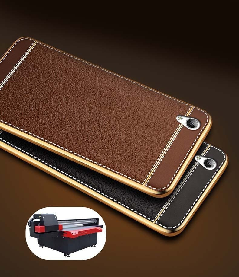 the latest 5cdb4 076f4 VAKU ® OPPO A37 Leather Stiched Gold Electroplated Soft TPU Back Cover