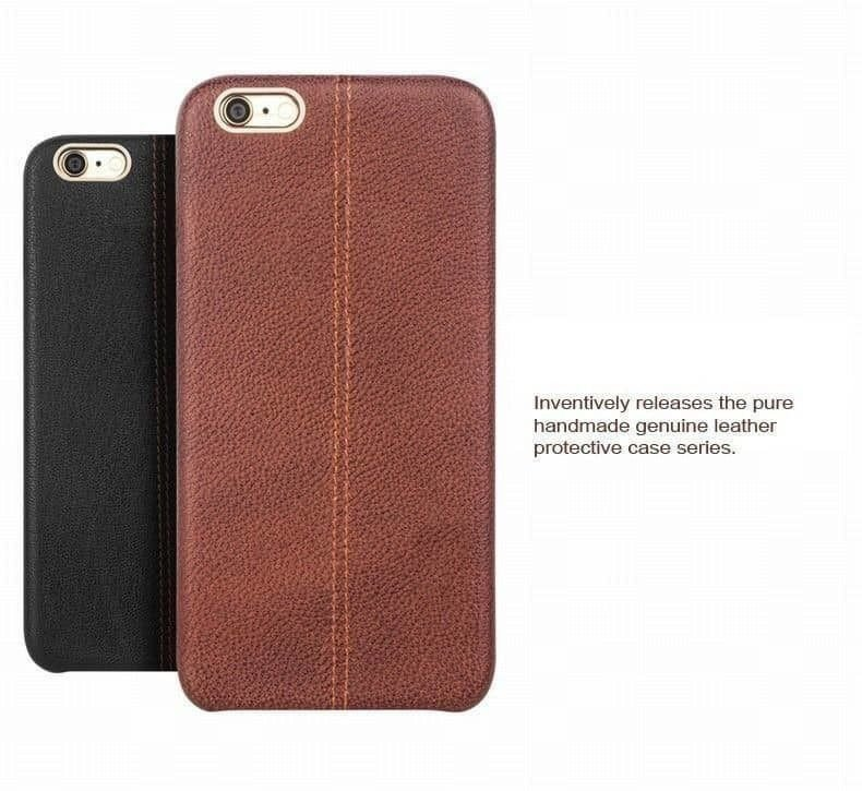 low priced 30678 77035 Vaku ® VIVO V5 / V5s Lexza Series Double Stitch Leather Shell with Metallic  Logo Display Back Cover
