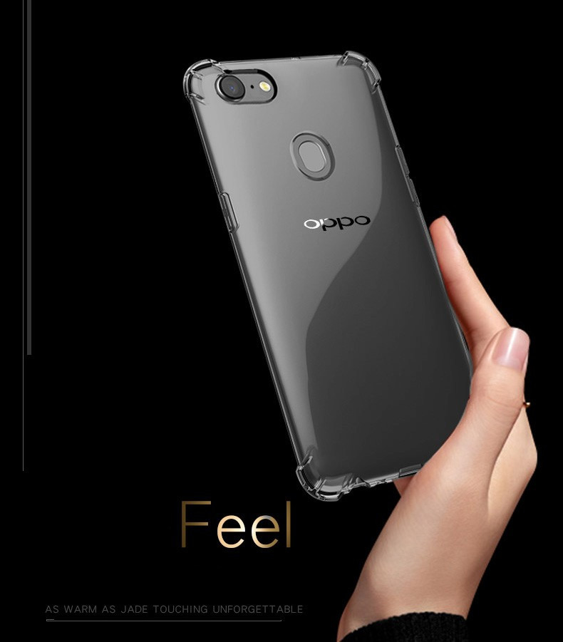 buy popular 1d830 da7a8 Vaku ® Oppo F5 PureView Series Anti-Drop 4-Corner 360° Protection Full  Transparent TPU Back Cover Transparent