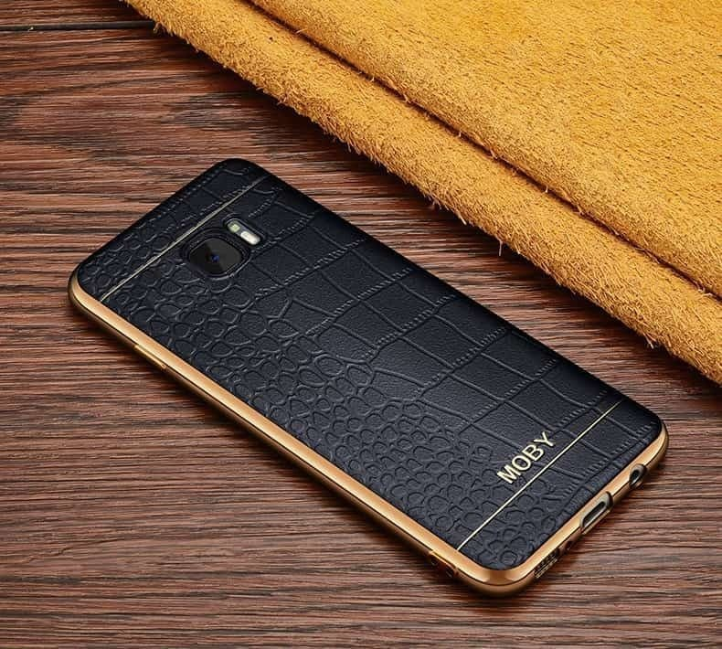 vaku samsung galaxy s6 european leather stiched gold electroplated soft tpu back cover. Black Bedroom Furniture Sets. Home Design Ideas
