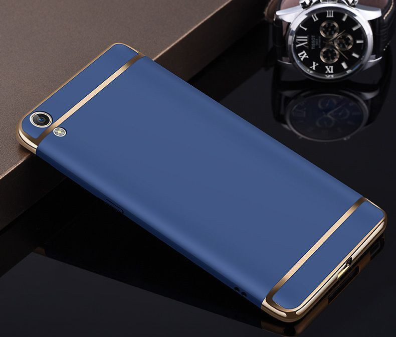 online retailer 7c85d e2fcd Vaku ® Oppo A37 Ling Series Ultra-thin Metal Electroplating Splicing PC  Back Cover