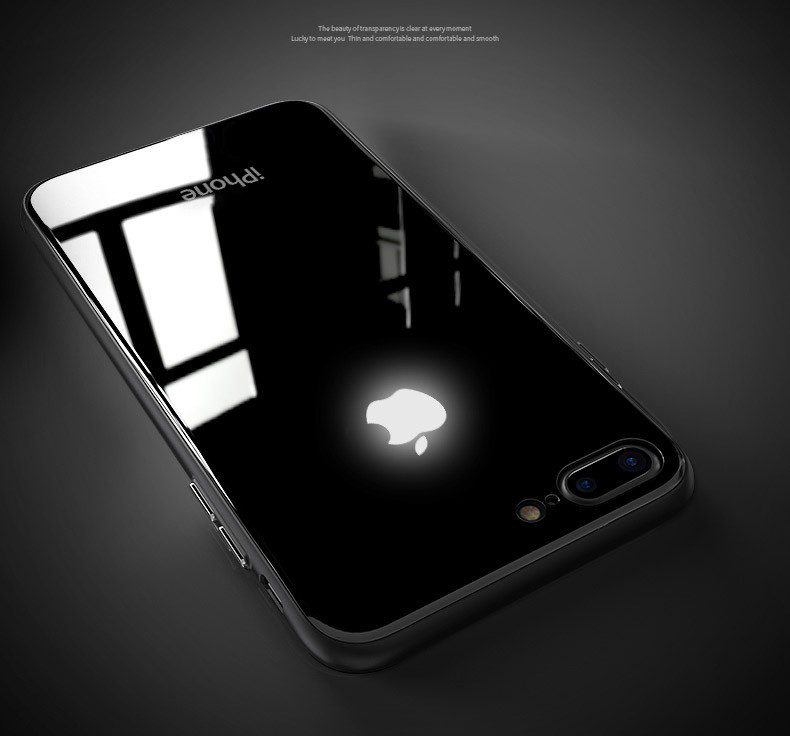 the best attitude b6aaa 43f5b LEKE ® Apple iPhone 7 Plus Laser LED Light Illuminated Apple Logo Club  Series Case Back Cover