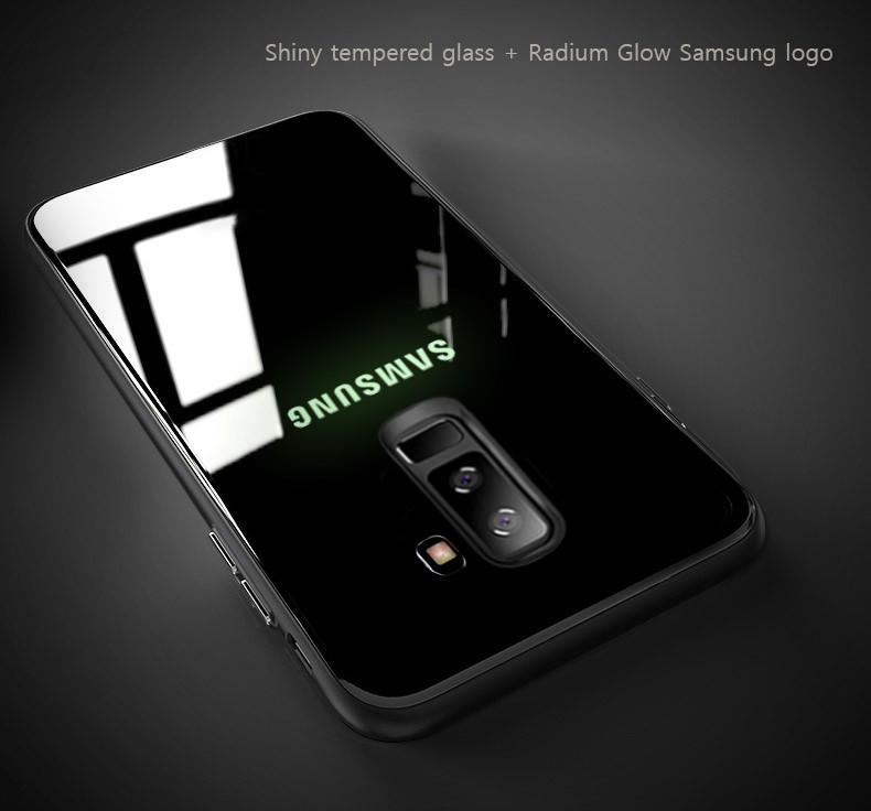 newest 6e37a 40da7 VAKU ® Samsung Galaxy J8 Radium Glow Light Illuminated SAMSUNG Logo 3D  Designer Case Back Cover