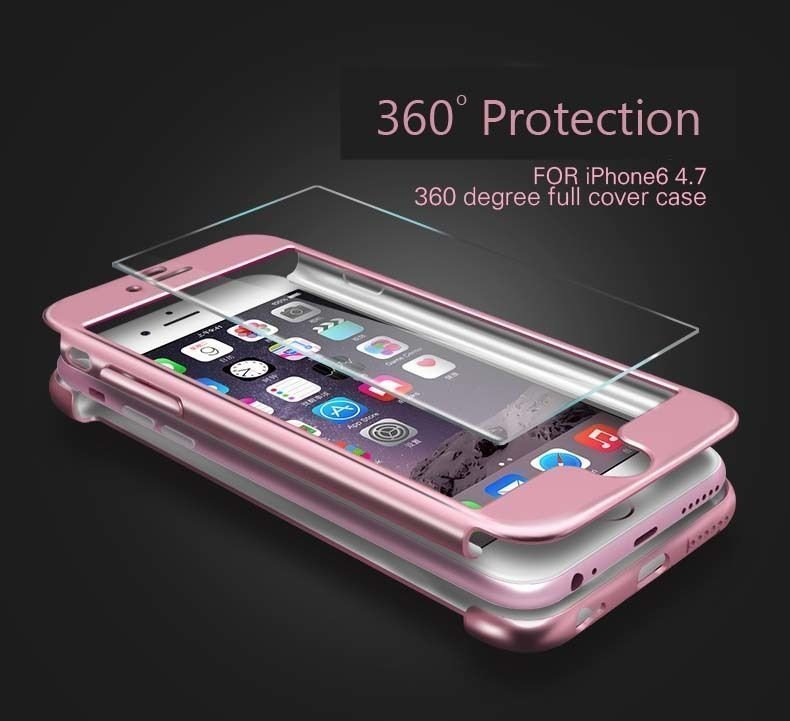 reputable site 0cd90 a9f0a Joyroom ® Apple iPhone 6 / 6S 5D ETOLICA Electroplating Front + Back Case +  Tempered Glass Screen Protector