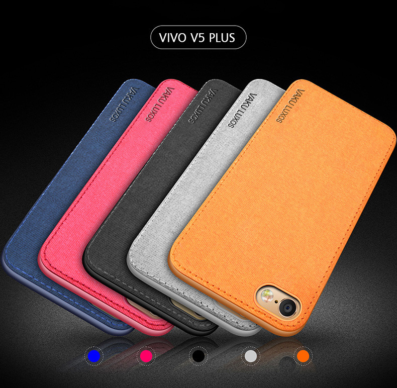 sale retailer b4f56 a9668 Vaku ® Vivo V5 Plus Luxico Series Hand-Stitched Cotton Textile Ultra  Soft-Feel Shock-proof Water-proof Back Cover
