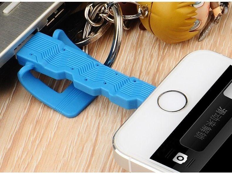 Baseus ® Ultra-Portable Key Design Apple Lightning Port Charging ...