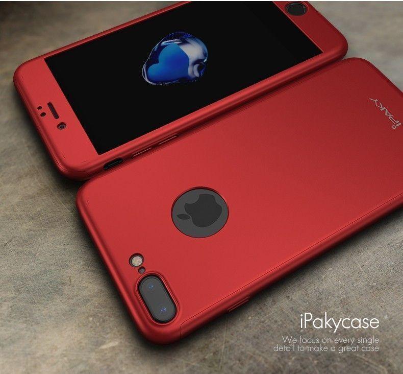 3d9066e0bd i-Paky ® Apple iPhone 7 Plus 360 Full Protection Metallic Finish 3 ...