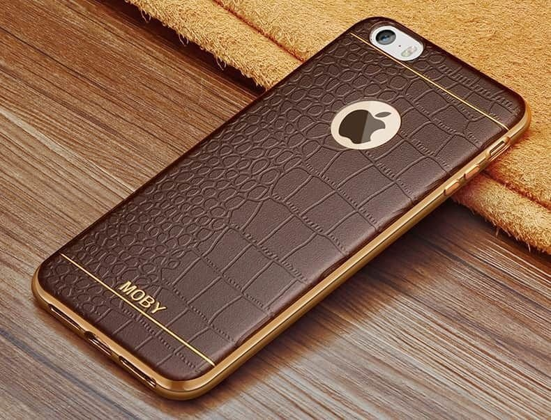 VAKU ® Apple iPhone 5 / 5S / SE European Leather Stiched ...