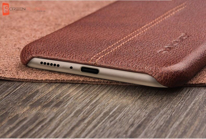 cheap for discount 3f6ae 1c225 Vaku ® Vivo V9 Lexza Series Double Stitch Leather Shell with Metallic  Camera Protection Back Cover