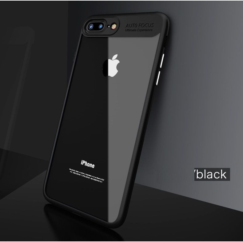 wholesale dealer 4ed06 7babb Vaku ® Apple iPhone 8 Plus Kowloon Series Top Quality Soft Silicone 4  Frames plus ultra-thin case transparent cover