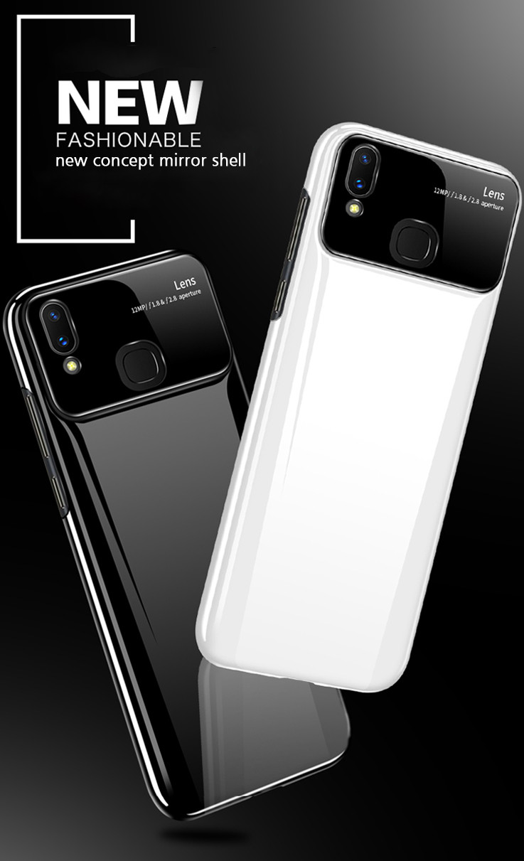 new style bf90d 33dc8 Vaku ® Vivo V9 Polarized Glass Glossy Edition PC 4 Frames + Ultra-Thin Case  Back Cover