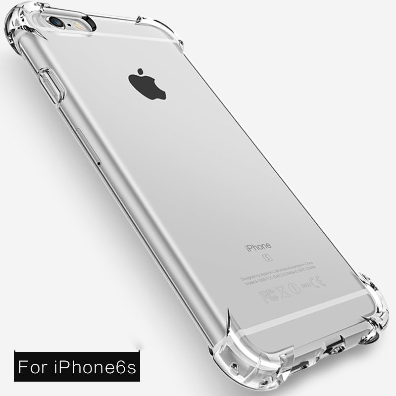 huge selection of 5117b dc14f Vaku ® Apple iPhone 6 Plus / 6S Plus PureView Series Anti-Drop 4-Corner  360° Protection Full Transparent TPU Back Cover Transparent