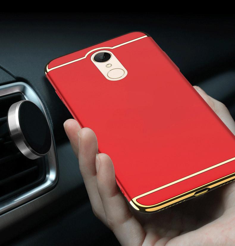d9eeb49451e Vaku ® Xiaomi Redmi Note 5 Ling Series Ultra-thin Metal Electroplating  Splicing PC Back Cover