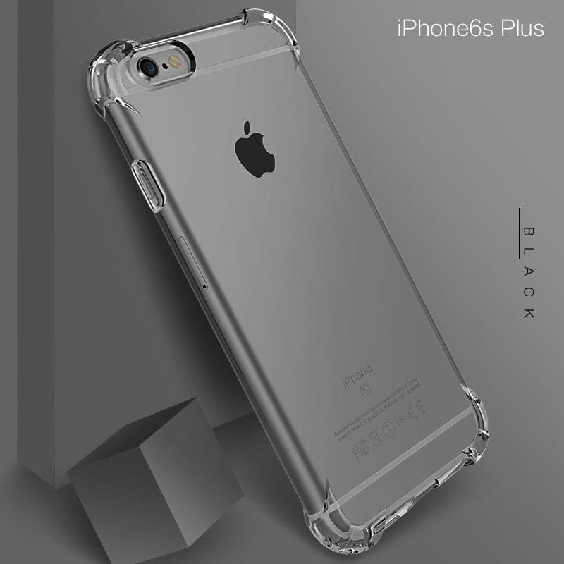 huge selection of 59ff0 1cb1d Vaku ® Apple iPhone 6 Plus / 6S Plus PureView Series Anti-Drop 4-Corner  360° Protection Full Transparent TPU Back Cover Transparent
