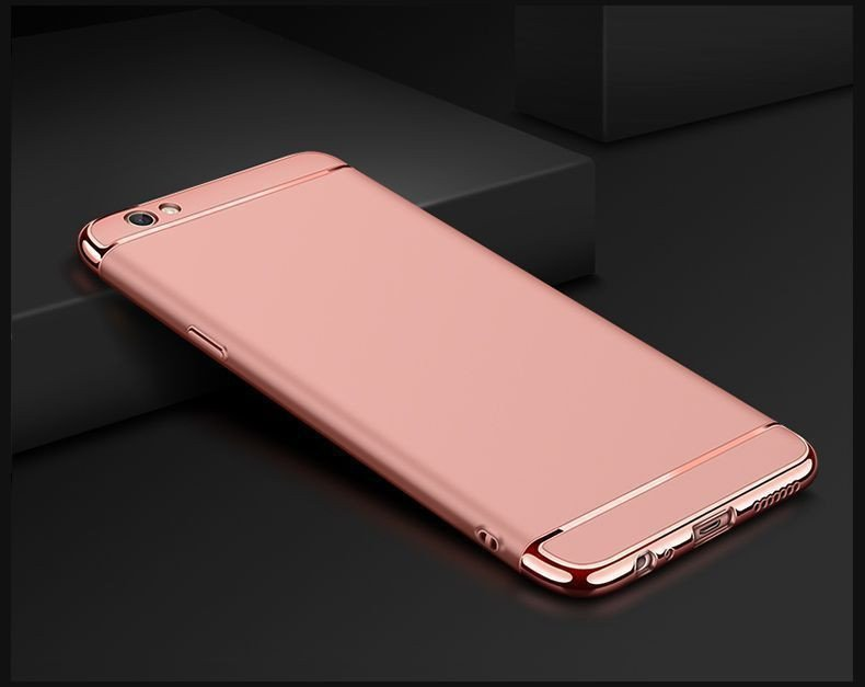 Vaku 174 Oppo A57 Ling Series Ultra Thin Metal Electroplating Splicing Pc Back Cover Screen