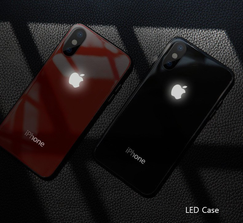 iphone xs max led case