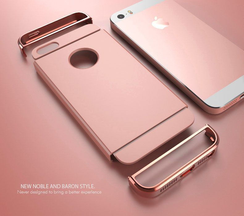 design di qualità 1376f a06f4 Joyroom ® Apple iPhone 5 / 5S / SE Ling Series Ultra-thin Metal  Electroplating Splicing PC Back Cover