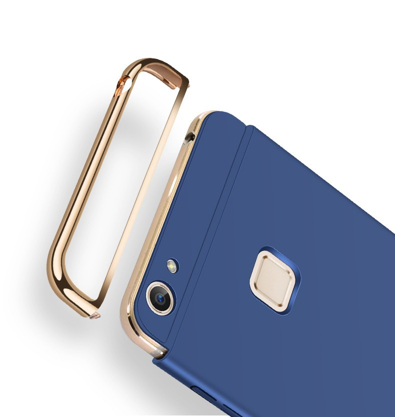 separation shoes 842df 37dc8 Vaku ® Vivo V7 Plus Ling Series Ultra-thin Metal Electroplating Splicing PC  Back Cover