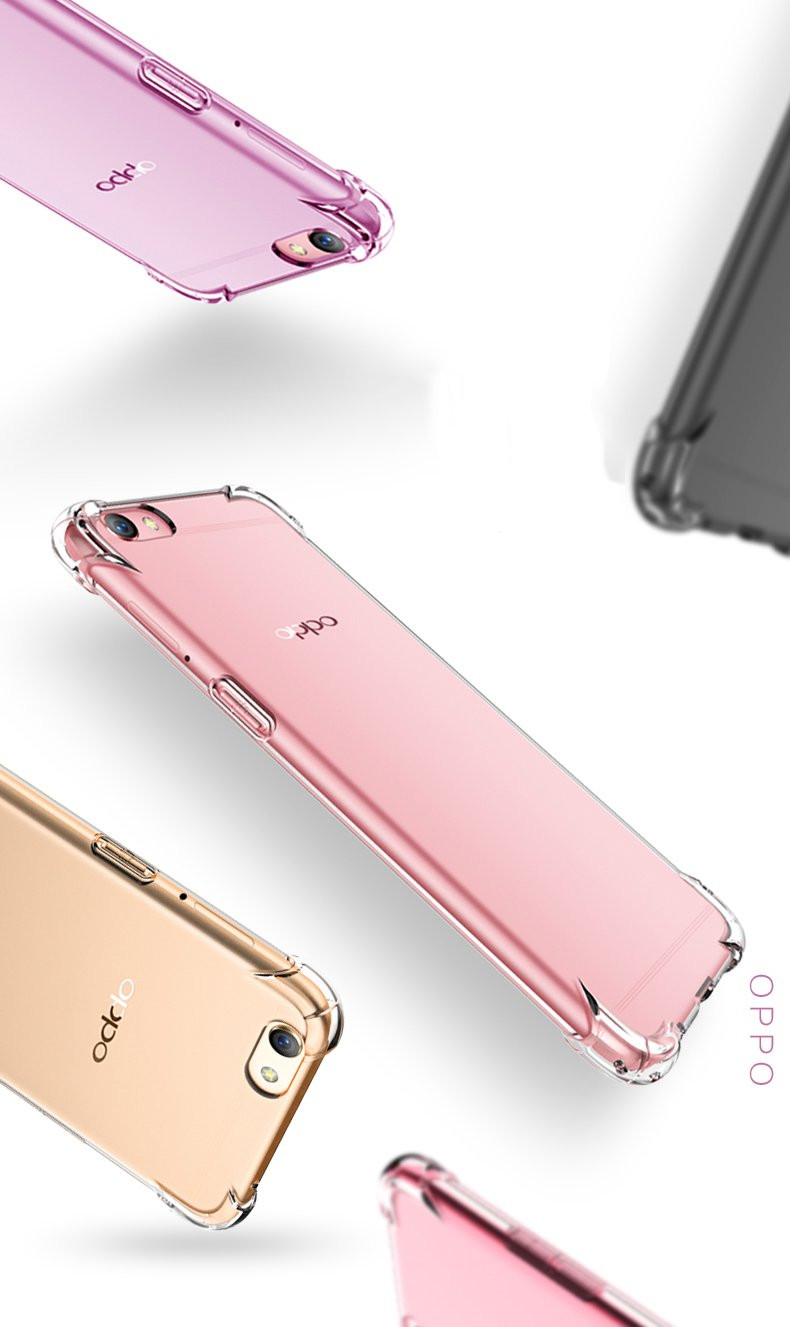 reputable site 70f1b 2525f Vaku ® Oppo A57 PureView Series Anti-Drop 4-Corner 360° Protection Full  Transparent TPU Back Cover Transparent