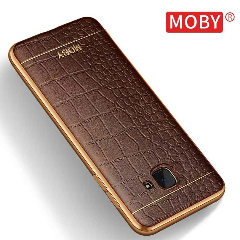 cheap for discount bab9f 78ce1 VAKU ® Samsung A7 (2016) European Leather Stiched Gold Electroplated Soft  TPU Back Cover