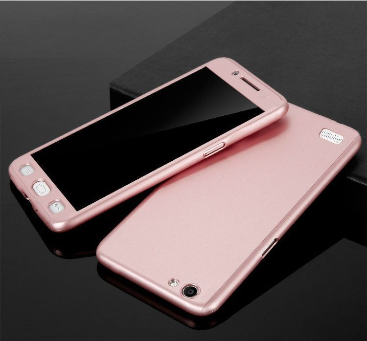 the latest 13b13 9dd64 Vaku ® Oppo NEO 7 360 Full Protection Metallic Finish 3-in-1 Ultra-thin  Slim Front Case + Tempered + Back Cover