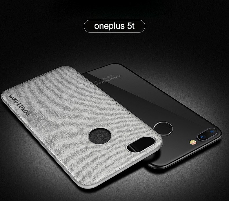 sale retailer ce6b3 7e0d7 Vaku ® OnePlus 5T Luxico Series Hand-Stitched Cotton Textile Ultra  Soft-Feel Shock-proof Water-proof Back Cover