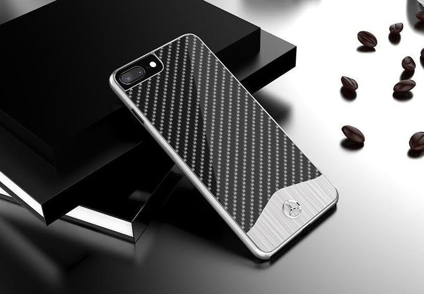 reputable site a691f ba441 Mercedes Benz ® Apple iPhone 7 Plus SLR McLaren Carbon Fibre (Limited  Edition) Electroplated Metal Hard Case Back Cover