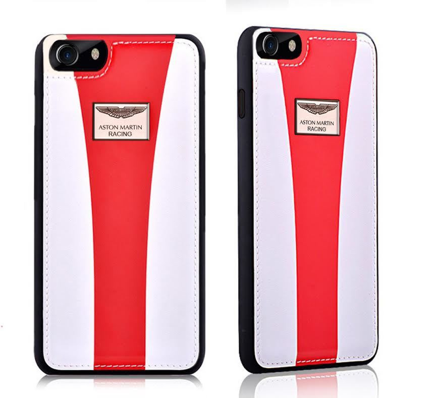 finest selection ca835 b124d Aston Martin Racing ® Apple iPhone 8 Plus Official Hand-Stitched Leather  Case Limited Edition Back Cover