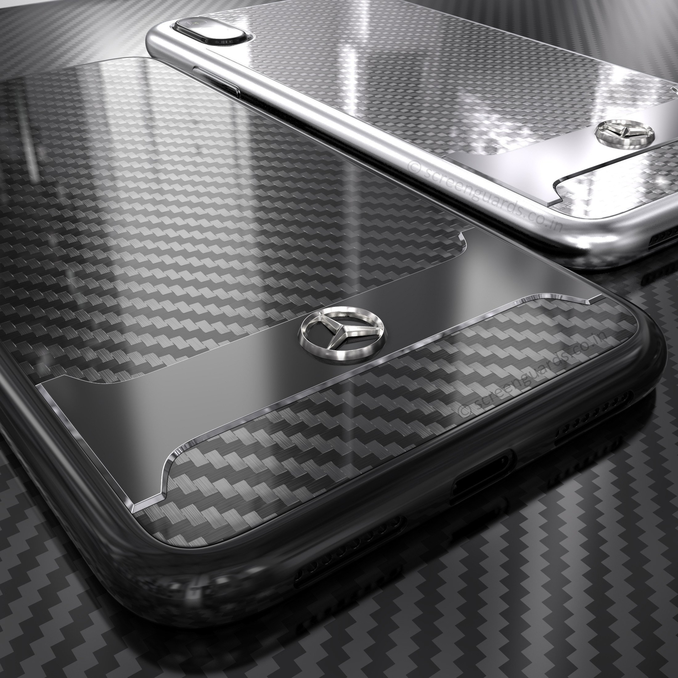 online store c9421 225f1 Mercedes Benz ® Apple iPhone XS SLR McLaren Carbon Fibre (Limited Edition)  Electroplated Metal Hard Case Back Cover