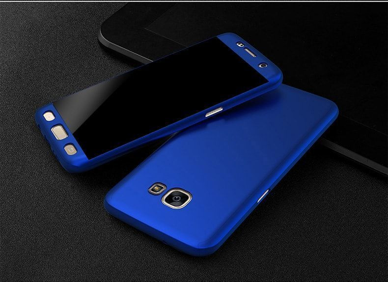 buy popular 71de4 e9319 Vaku ® Samsung Galaxy J7 Max 360 Full Protection Metallic Finish 3-in-1  Ultra-thin Slim Front Case + Tempered + Back Cover