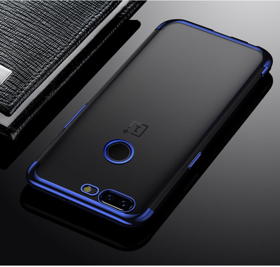 best loved 26974 4bdfc Vaku ® OnePlus 5T CAUSEWAY Series Electroplated Shine Bumper Finish  Full-View Display + Ultra-thin Transparent Back Cover