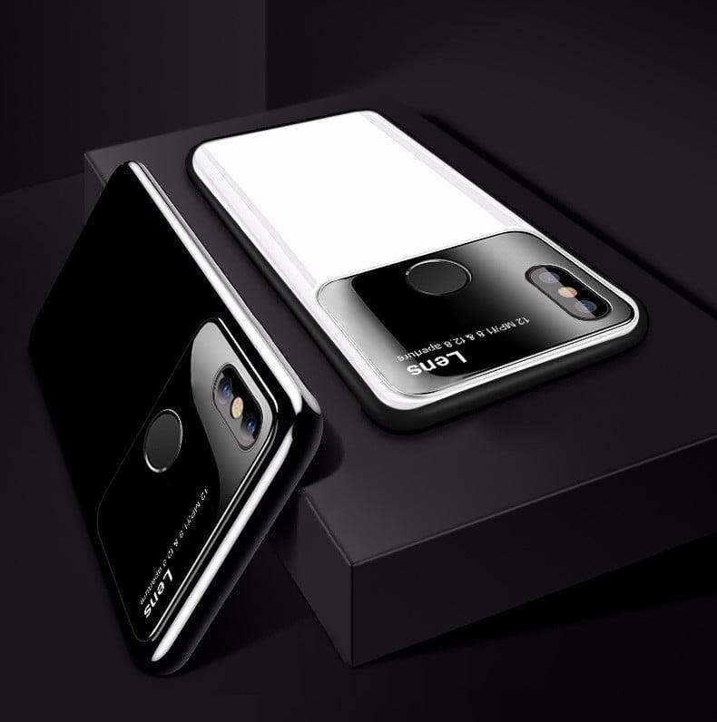 finest selection e25c7 6b4b4 Vaku ® Xiaomi Mi A2 Lite Polarized Glass Glossy Edition PC 4 Frames +  Ultra-Thin Case Back Cover