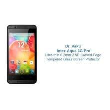 Dr. Vaku ® Intex Aqua 3G Pro Ultra-thin 0.2mm 2.5D Curved Edge Tempered Glass Screen Protector Transparent