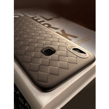 Vaku ® Vivo V9 WeaveNet Series Cross-Knit Heat-Dissipation Edition Ultra-Thin TPU Back Cover