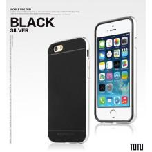 Totu ® Apple iPhone 6 Plus / 6S Plus Evoque Metal + Soft Grip Case Soft / Silicon Case
