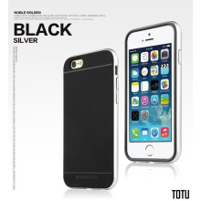 Totu ® Apple iPhone 6 / 6S Evoque Metal + Soft Grip Case Soft / Silicon Case