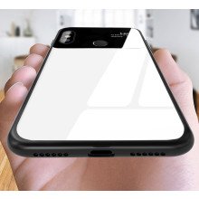 Vaku ® Xiaomi Redmi Note 6 Pro Polarized Glass Glossy Edition PC 4 Frames + Ultra-Thin Case Back Cover