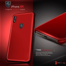 Ferrari ® Apple iPhone XR Liquid Silicon Luxurious Case Limited Edition Back Cover
