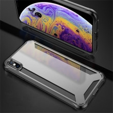 fba3d927f28 VAKU ® Apple iPhone XS Max Hybrid Protective Clear Case Back Cover ...